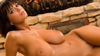 Busty Brunette Karin Spolnikova fully nude